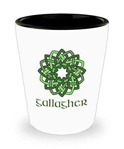 Gallagher ~ Irish Surname ~ Celtic Knot Wreath Shot Glass