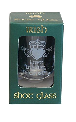 Irish Shot Glass Claddagh