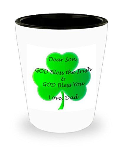 Irish Shot Glass - Dear Son GOD Bless the Irish - Great Gift idea