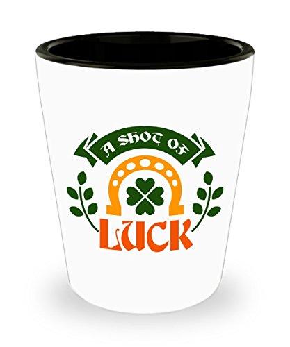 Shot Of Luck Irish Shot Glass