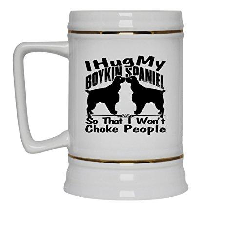 Boykin Spaniel White Beer Mug - Boykin Spaniel Beer Stein Ceramic Cool Design Gift For Friend Family White Beer Stein