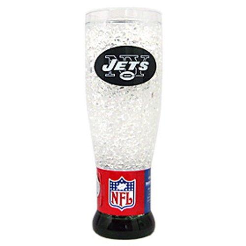 New York Jets NFL Crystal Pilsner Glass