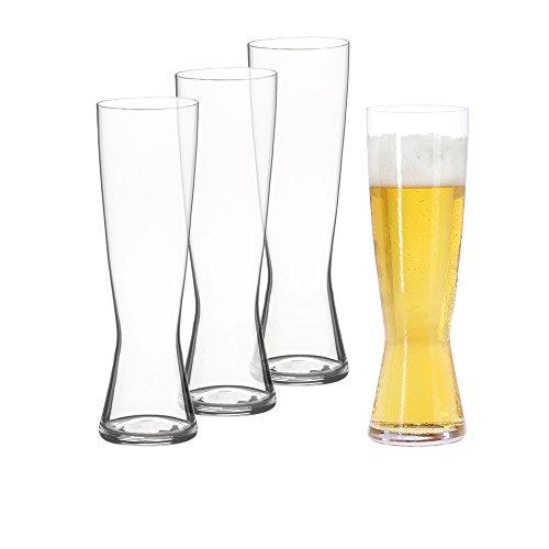 Spiegelau Classics Pilsner Beer Glasses - Set of 4 Clear Crystal
