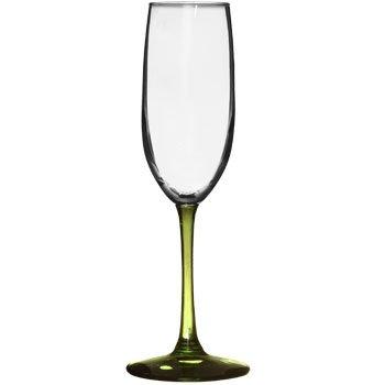 My Sanctuary Champagne Glass set of 4 - 8oz Olive Long Stem Glasses
