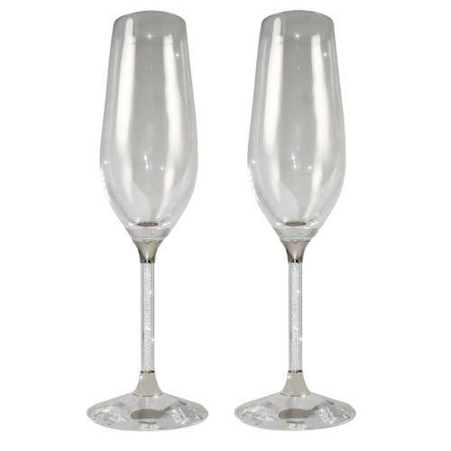 92 Crystal Filled Stem Champagne Flute