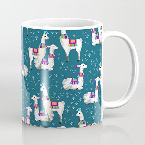 LVYZIHO Mug - Watercolor llamas Ceramic Coffee Mug White - Funny Wine Mug - 11OZ Coffee Mug - Perfect for Wedding Mothers Day Fathers Day or Friends