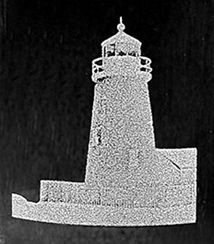 Lighthouse Laser Etched Large White Wine Glass Set 2 20WW