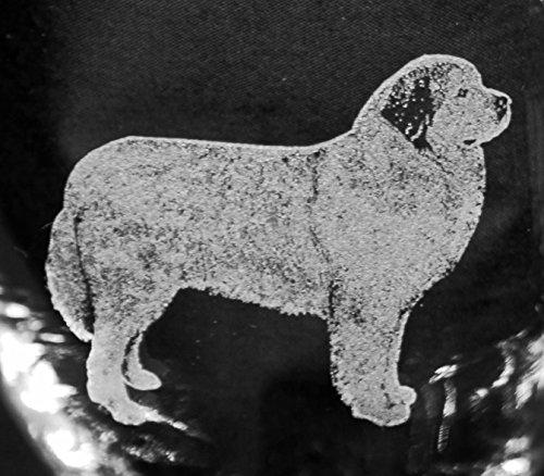 Muddy Creek Reflection Great Pyrenees Dog Laser Etched Large White Wine Glass Set 2 20WW