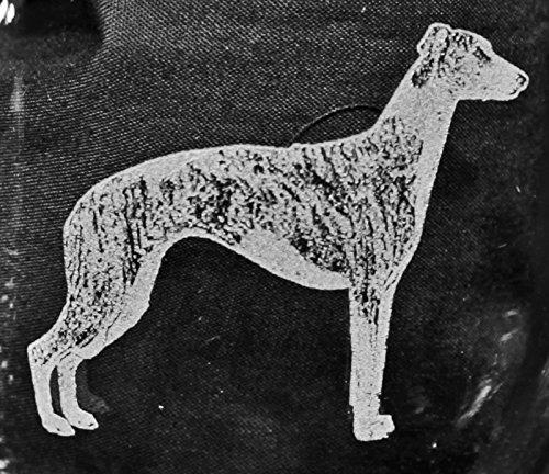 Muddy Creek Reflection Whippet Dog Laser Etched Large White Wine Glass Set 2 20WW