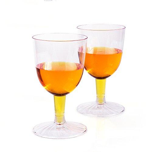 KIW 20 Pcsset Disposable Crystal Clear Plastic Martini Glasses 5 OZ Plastic DessertCocktail Cups Great For Appetizers Desserts Mousse