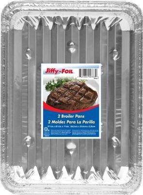 Jiffy Broiler Pan 2-Count Pack of 15