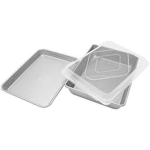Elements Premium Aluminized Bake Roast with Quarter Sheet Pan Gray