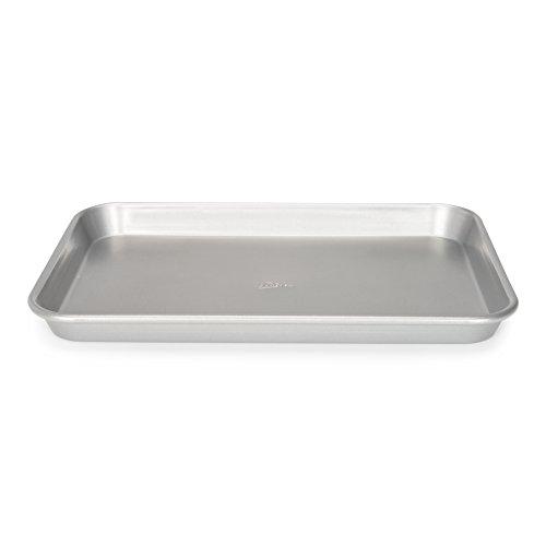 Patisse Quarter Sheet Pan 9-12 x 13-38 or 24 cm x 34 cm is 1-316 or 3 cm Deep Nonstick Gray Metallic Color Silver Top Series 03638