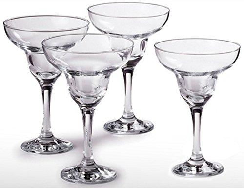 Circleware Cozumel Four Piece 10 Ounce Margarita Glass Set