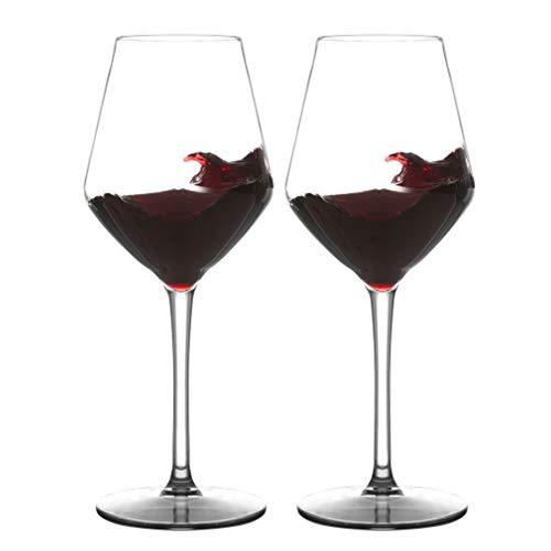 MICHLEY Unbreakable Stemmed Wine Glass 100 Tritan Plastic Dishwasher safe Glassware 15 oz Set of 2