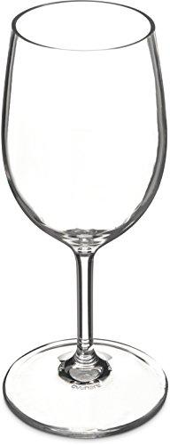 Carlisle 564507 Alibi Shatter-Resistant Plastic White Wine Glass 8 oz