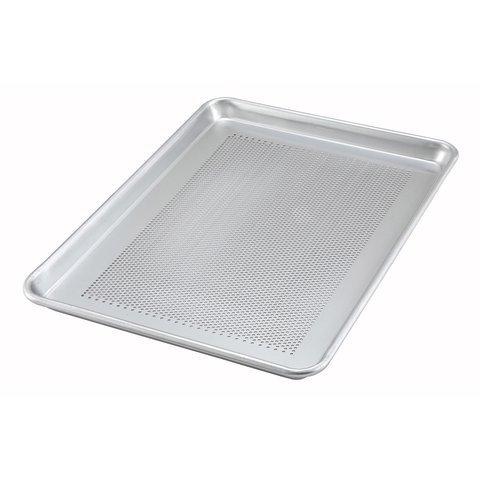 Winco ALXP-2618P 18″x26″ 16 Gauge Full Size Closed Bead Aluminum Perforated Baking Sheet Pan Baking Tray