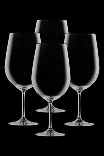 Set 4 Large Lead-Free Crystal 16 oz Stemmed Red Wine Glasses Goblets