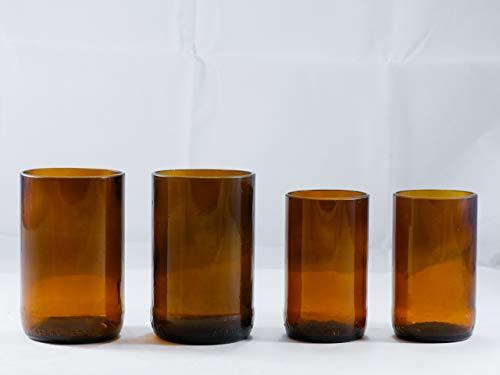 Amber Brown Beer Bottle Drinking Glasses Budweiser 650 Mls Bottles