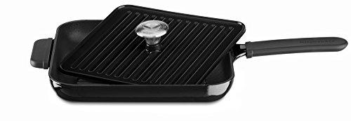 KitchenAid KCI10GPOB Cast Iron Grill and Panini Press Cookware - Onyx Black