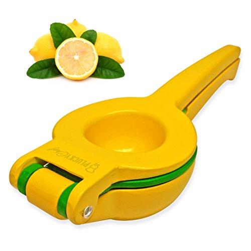 Plucky Chef Lemon Lime Manual Squeezer Premium Double Bowl Citrus Fruit Juicer Press Design Quality Enameled Aluminum