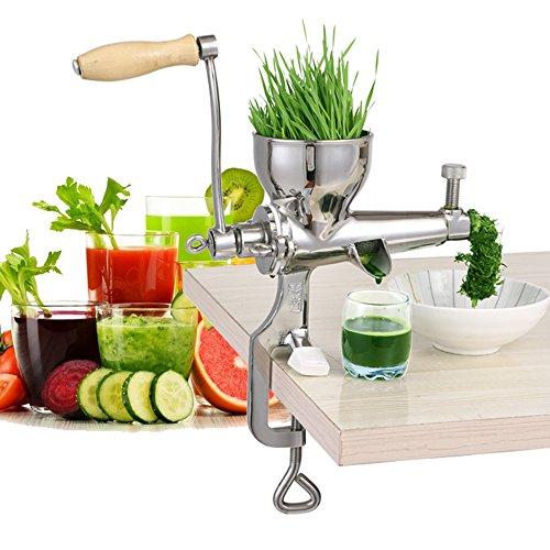 HUKOER 100 Stainless Steel Manual Wheatgrass Juicer Fruit Citrus Juice Extrator