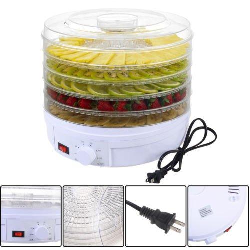 Phantomx 5 Tray Electric Food Dehydrator Fruit Vegetable Dryer Beef Snack Jerky White New