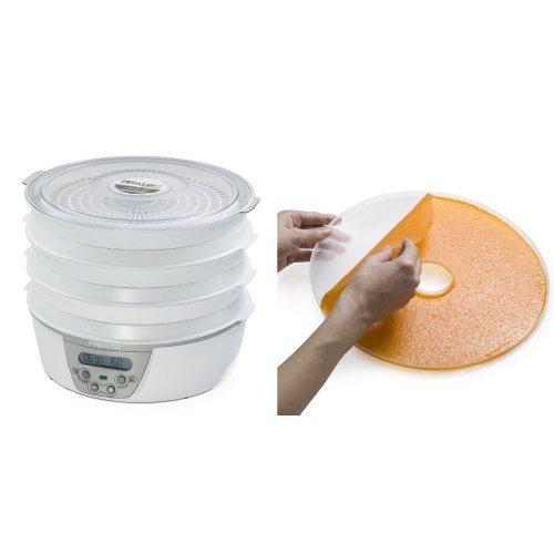 Presto 06301 Dehydro Digital Electric Food Dehydrator and National Presto Dehydro Electric Food Dehydrator Fruit Roll Sheets Bundle