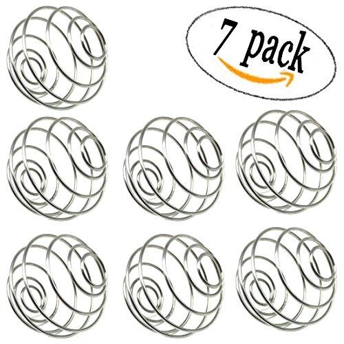 7 Pack Milkshake Protein Blender Mixing Wire Whisk Ball for Mixer Protein Shaker Cup Whisk Blender Bottle Balls Mixers