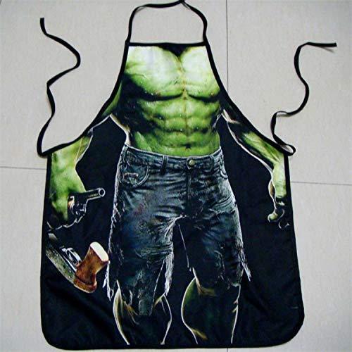Wilbur Richardson Hulk Funny Apron Character Costume Apron Cooking Apron Party Apron