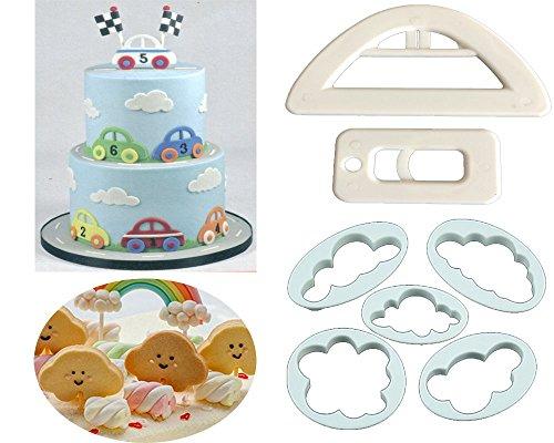 Clouds Car Cookie Cutter SetClouds Cookie Cutter MouldCup Cake Decorating Gumpaste Fondant MouldCute Car Cutter