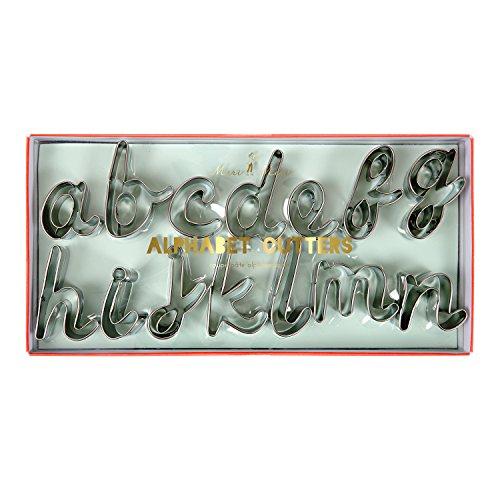 Meri Meri Alphabet Cookie Cutters 26 Letters and 1 Ampersand