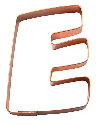 The Letter E Copper Alphabet Cookie Cutter