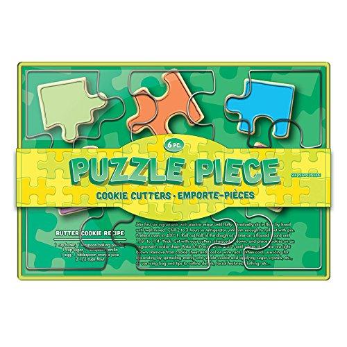 Fox Run Brands Puzzle Pieces Cookie Cutter Set Metallic