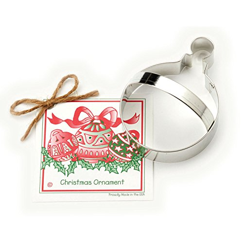 Christmas Ornament Cookie and Fondant Cutter - Ann Clark - 45 Inches - US Tin Plated Steel