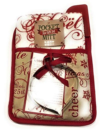 Pocket Mitt - 5 Piece Gift Set - Christmas Ornament Cookie CutterItchen Linen Set