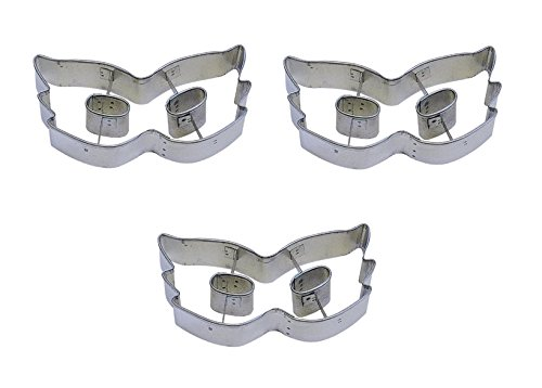 4 Mardi Gras Mask Cookie Cutter Set of 3