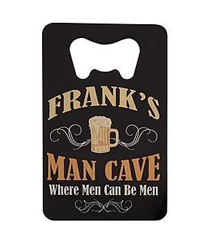 Personalized Wallet Bottle Opener - Man Cave