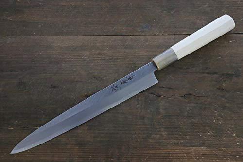 left Handed Kasumitogi White Steel Yanagiba Japanese Chef Knife Water Buffalo Handle 330mm By TTKing