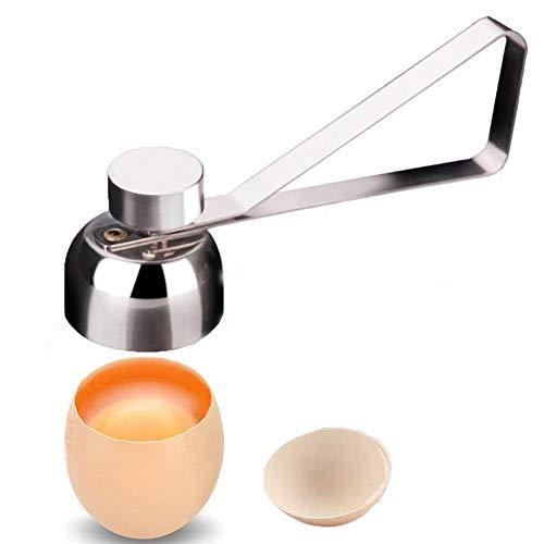Egg Cracker TopperStainless Steel Egg Opener Egg Topper Cutter Shell Remover Poached Egg Separator Egg Whacker Egg Hammer Touch Kitchen Cutter Tool for RawSoftHard Boiled Egg Cup Diameter 138 in
