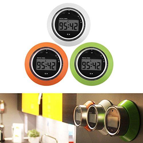 Bazaar Spin Control Digital LCD Kitchen Timer Magnetic 99 Min Cooking Study Timer Reminder