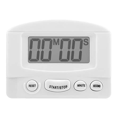 Digital Kitchen Timer LCD Countdown Timer Cooking Timer Baking Timer Electronic Loud Alarm Clock Alarm for ExerciseGameSportsWhite