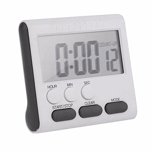SHUTAO Electronic timer Timer Kitchen timer clock alarm Large screen timer black