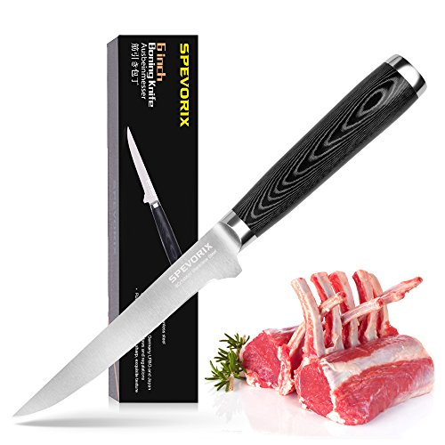 SPEVORIX Flexible Boning knife 6 Inch Razor Sharp High Precision Fillet Knife with Micarta handleThis discount Only 150 Sets