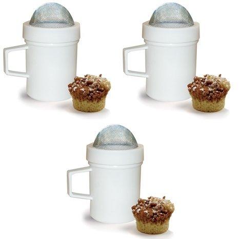 Sugar and Flour Shaker Set of 3