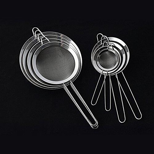 Wire Mesh Sieve-NACOLA Stainless Steel Wire Fine Mesh Oil Strainer Flour Sifter Sieve Colanders DIY Kitchen Tools