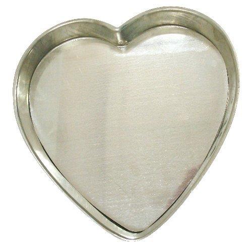 Heart Shaped FlanTart Pan with Removable Bottom - 12 Diameter x 15 Deep