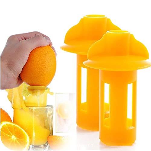 FidgetKute Mini Durable Manual Hand Citrus Juicer Plastic Squeezer Lemon Fruit Press Juice Show One Size