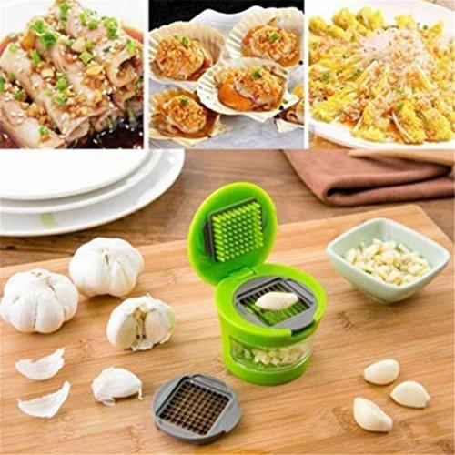 SOURBAN Garlic Press Crusher Squeezer Vegetable Ginger Garlic Chilli Chopper Cut Slicer Kitchen Tool