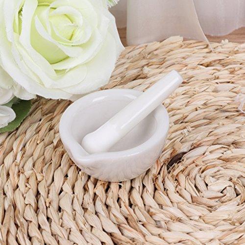 Poapp Porcelain Pestle and Mortar -Mixing Grinding Bowl Set -White